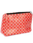 Quatrefoil Print Cosmetic Makeup Bag or Pouch Wallet Clutch Purse