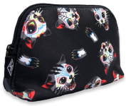 Liquorbrand Stabby Cats Tattoo Cosmetic Make-up Vegan Travel Toiletry Bag Pouch