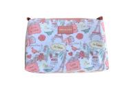 Stella & Max Paris Love Theme Top Zip Case Cosmetic Bag