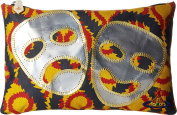 Vivienne Westwood Men's Africa Squiggle Zip Pouch Yellow/Red/Blue