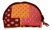 Provence fabric small cosmetic bag - Pink Patchwork - Made in France