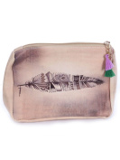 Feather Art Print Cosmetic Makeup Bag or Pouch Wallet