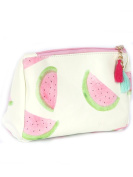Watermelon Print Tassel Cosmetic Makeup Bag or Pouch Wallet