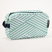 Crosshatch Mint Navy 25cm x 15cm Polyester Cosmetic Bag