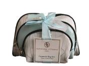 Adrienne Vittadini Women's Three Dome Shaped Deco Design Cosmetic Bag Set