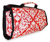Ever Moda Damask Women's Juniors Hanging Toiletry Bag Coral