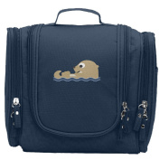 Travel Toiletry Bags Cartoon Otter With Water Washable Bathroom Storage Hanging Cosmetic/Grooming Bag For Household Business Vacation, Multi Compartments, Waterproof Lining