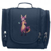 Travel Toiletry Bags Sly Fox With Galaxy Starry Washable Bathroom Storage Hanging Cosmetic/Grooming Bag For Household Business Vacation, Multi Compartments, Waterproof Lining