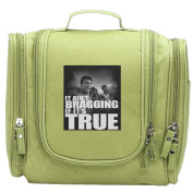 Travel Toiletry Bags Muhammad Ali It Ain't Bragging True Washable Bathroom Storage Hanging Cosmetic/Grooming Bag For Household Business Vacation, Multi Compartments, Waterproof Lining