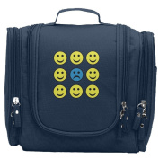 Travel Toiletry Bags Smile Face Is A Sad Face Washable Bathroom Storage Hanging Cosmetic/Grooming Bag For Household Business Vacation, Multi Compartments, Waterproof Lining