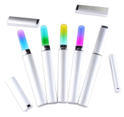 Beauty Leader 5 Pcs Different Colours Glass Nail File With Silver Case Crystal Glass File Double Work Side Manicure Nail Buffer File Tools
