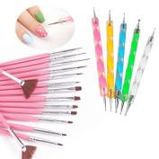 Yimart 20pcs/set Nail Art Design Drawing Brushes Dotting Pens