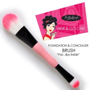 2-Pack! Ms. Makeup Hide & Go Chic Foundation & Concealer Brush