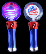 LED Spinner Wand - Red-White-Blue