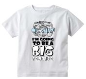Baby Tee Time Boys' Crew Neck TEE Oh Snap! I'm going to be a big brother funny Shirt