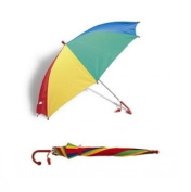 Kids / Children Multi Coloured Rainbow Umbrella
