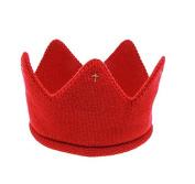 Philna12 Red Baby Boy Girl Warm Soft Knit Crochet Beanie Warm Cap Crown Hat