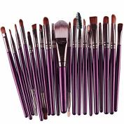 20PCS Make Up Brushes Professional Cosmetic Plastic Handle Basic Eyebrow Eyeshadow Mascara Lip Makeup Brush Set
