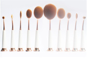 Beauty Kate Set of 10 pcs Professional Oval Pipe Makeup Brush Set