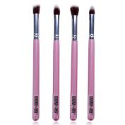 Eshion 4 Pcs Makeup Brush Set Eyeshadow Cosmetic Powder Foundation Blending Brush Tools