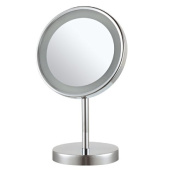 Nameeks Nameeks AR7711 Glimmer Round Free Standing 3x Magnification LED Makeup Mirror, Chrome