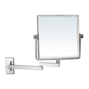Nameeks Nameeks AR7722 Glimmer Square Wall Mounted Double Face 3x Magnification Makeup Mirror, Chrome