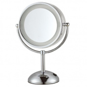 Nameeks Nameeks AR7713 Glimmer Double Face Round 3x Magnification Makeup Mirror, Chrome
