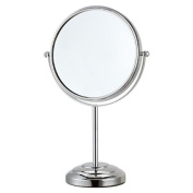 Nameeks Nameeks AR7724 Glimmer Double Face 3x Magnification Table Makeup Mirror, Chrome/Satin Nickel