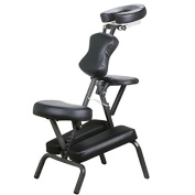 Yaheetech Portable Pu Leather Pad Comfort Travel Massage Spa Chair, with Carrying Bag, Black
