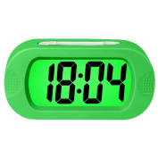 Electronic Digital Alarm Clock,Rosa Schleife Colourful Light Travel Digital Alarm Morning Clock Battery Operated with Repeating Snooze,Large Display,Progressive Alarm,Night Light Home Alarm Clock