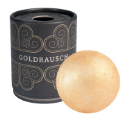 Deluxe Bath Bombs Goldrausch, 180g heavy XXL Bath balls with moisturising Shea Butter, vegan and without animal testing