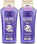 2x Schwarzkopf Gliss Ultimate Repair & Volume Shampoo 0% Silicone 250ml
