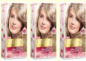 3 x l 'oreal Excellence Creme 8.1 Light Blonde Ash Colouring Dye