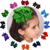 Vintage Layered Hair Clip With Handmade Flower Shape For Toddler Girls (Giftbox Pack Of 12) LCLHB