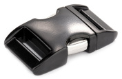 5 - 1.6cm Black Aluminium Side Release Buckles