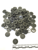 "3/4"" (18 mm) Dark Grey Resin Buttons - Pack of 100"
