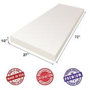 "Upholstery Foam Cushion Sheet- 1.3cm x 70cm x 72"" Regular Density Support Premium Luxury Quality- Good for Sofa Cushion, Mattresses, Wheelchair by Dream Solutions USA"