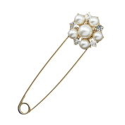 diffstyle Cute Gold Plated Flower Brooch Pin Jewellery for Women Lady