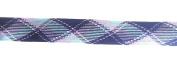 Designer PLAID FOLDOVER BRAID Ribbon Trim , Multi Colours - For Clothing , Pillows, Drapes 5 Yds FO-103G