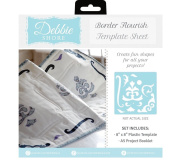 Debbie Shore 8 x 8 Template Sewing Project Sheet Set - Border Flourish