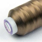 WonderFil Specialty Threads DecoBob Dark Tan, 2-ply Cottonized Polyester, 80wt