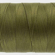 WonderFil Specialty Threads Konfetti Thread Avocado Green, 50wt double gassed Egyptian cotton
