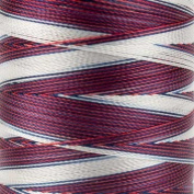 WonderFil Specialty Threads Mirage, 800m, Red/White/Blue, 2-ply Random Dyed Multi-Coloured Rayon. 30wt