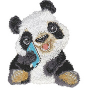 Panda - Animal Club - Iron on or Sew on Embroidered Patch