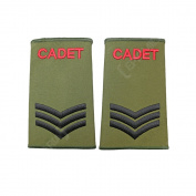 British Army Olive Green Cadet Rank Slides - CPL