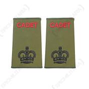 British Army Olive Green Cadet Rank Slides - CSM