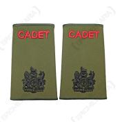 British Army Olive Green Cadet Rank Slides - RSM