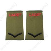 British Army Olive Green Cadet Rank Slides - LCPL