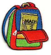 DKAORU School - Backpack - School Supplies - Embroidered Iron On Applique Patch Happy crafting