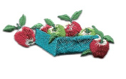 DKAORU Apple - Fruit - Orchard - Autumn - Country - Embroidered Iron On Applique Patch Happy crafting